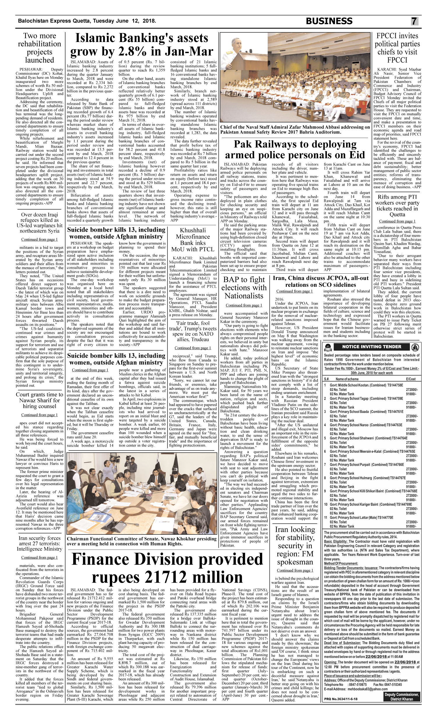 Daily Balochistan Express Page: 7